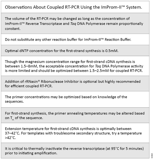 Observations About Coupled RT-PCR Using the ImProm-II System.